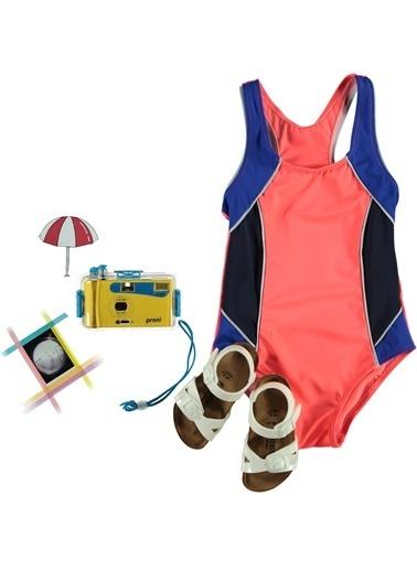 Dagi Kız Çocuk Yüzücü Mayo Pembe